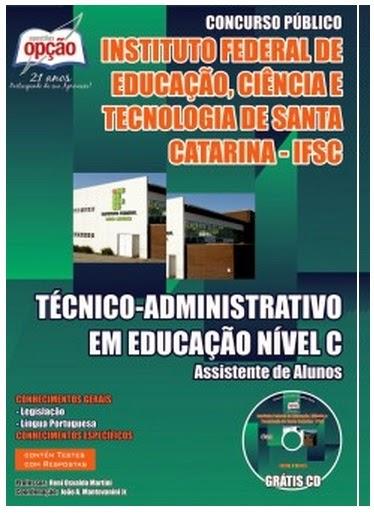 Apostila IFSC - Instituto Federal de Santa Catarina Concurso Público edital 2014.