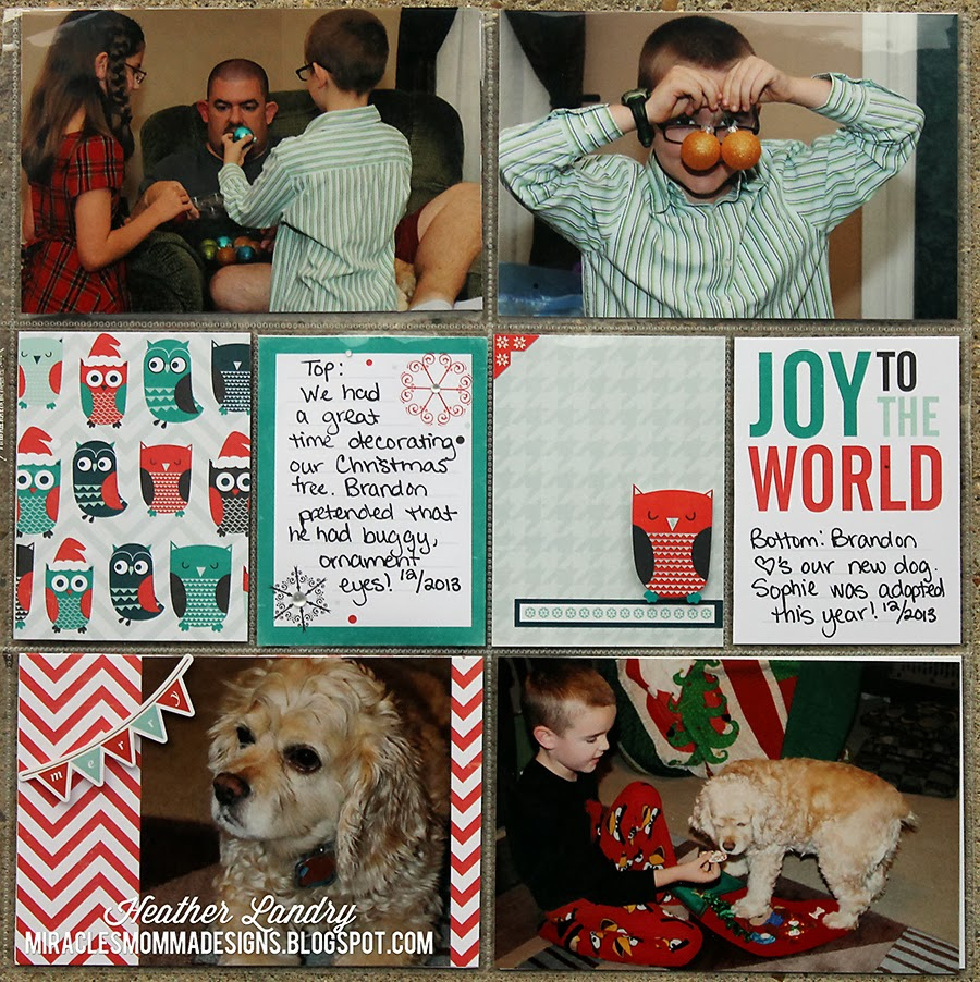 Pocket Scrapbook Page_Sophie Dog_Christmas