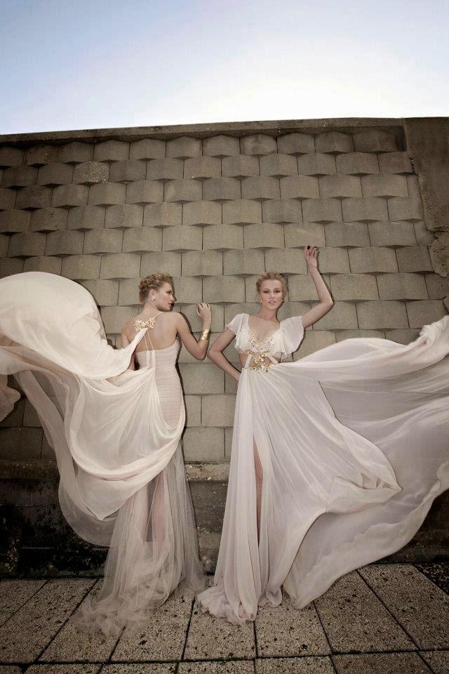 Manhattan Mayhem Evening Dresses by Galia Lahav - white