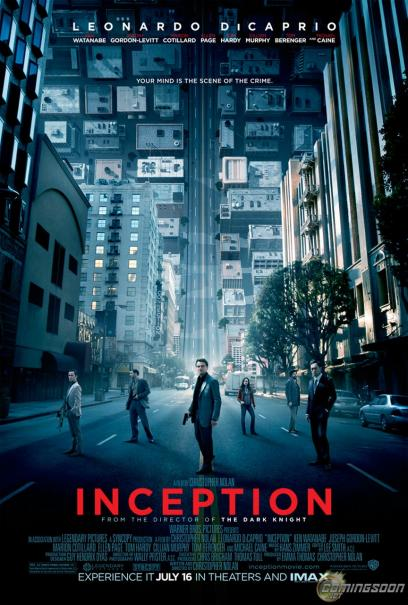 Inception poster Leonardo DiCaprio and other cast members