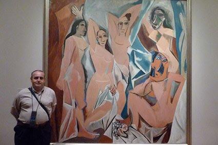 CON PABLO PICASSO EN EL MUSEO DE ARTE MODERNO DE NUEVA YORK (MOMA)