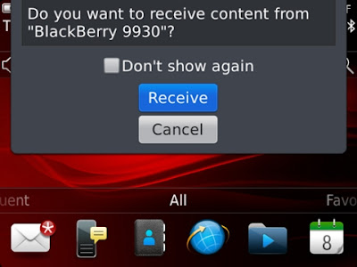 How To Send File with (NFC) Near Field Communication BlackBerry OS 7.1