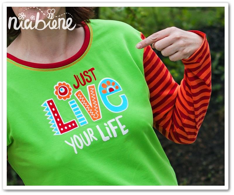 Freebie, Plotterdatei, nicibiene, just live your life