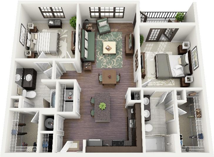 diego reales - 3 D Floor Plans