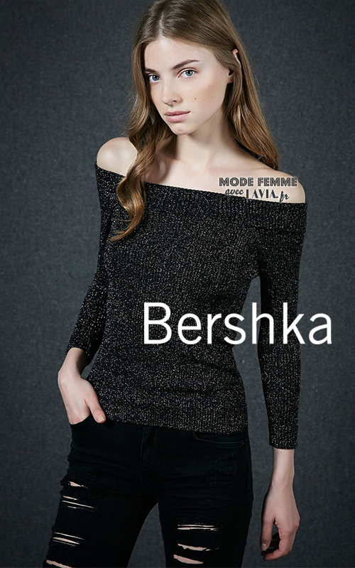Pull en maille brillant Bershka