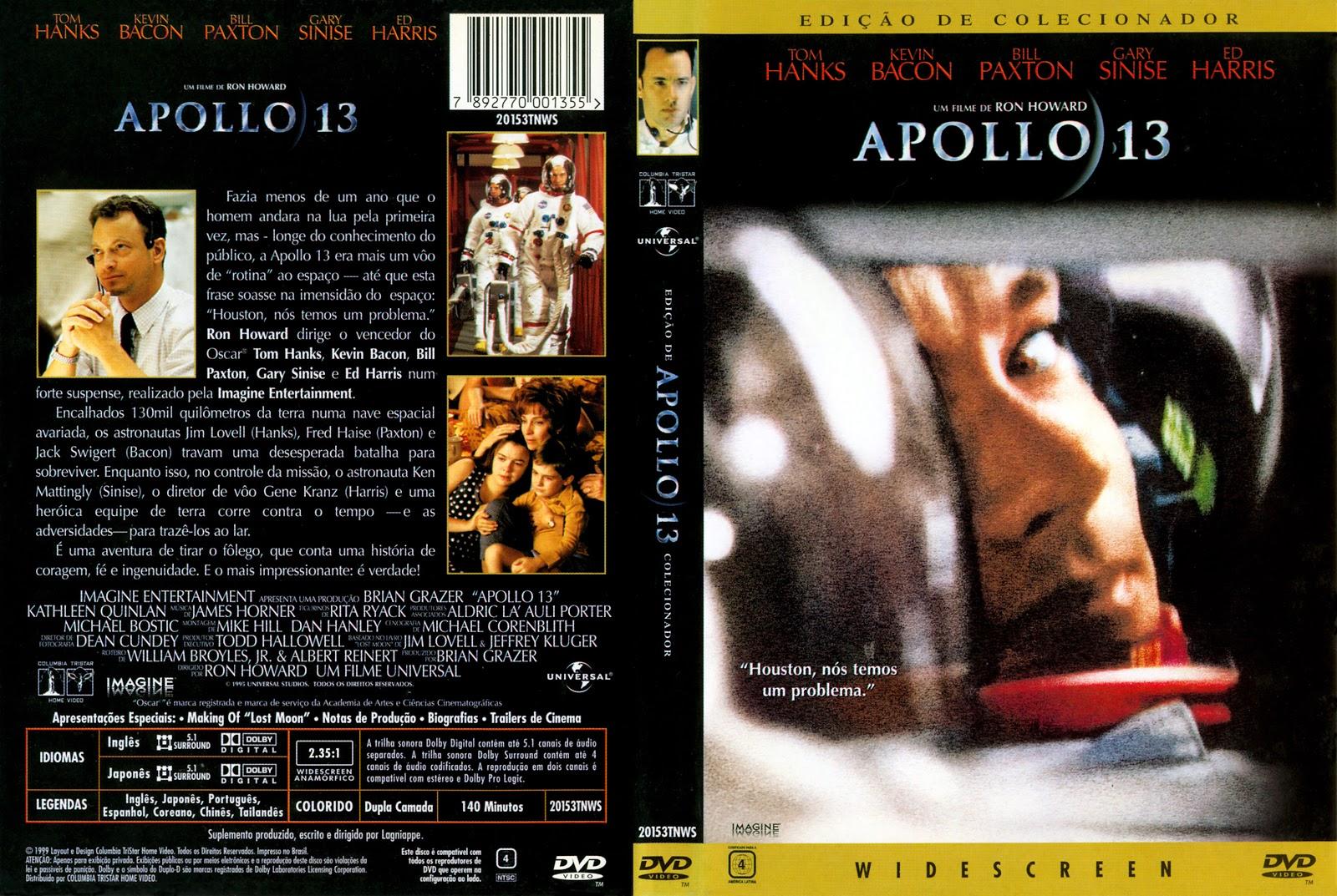 Capa DVD Apollo 13 Edição De Colecionador