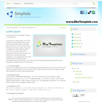 Simplistic blogger template. simple and minimalist design blogger template. free blogspot template