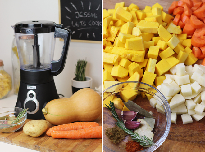 Spiced Butternut Squash & Carrot Soup with Tower Soup Maker