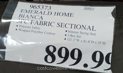 Deal for the Emerald Home Bianca 3-Piece Sectional Set at Costco