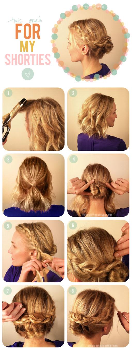 Прическа для волос по плечи своими руками фото
