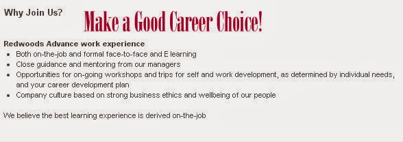 Make a Good Career Choice with Redwoods Advance