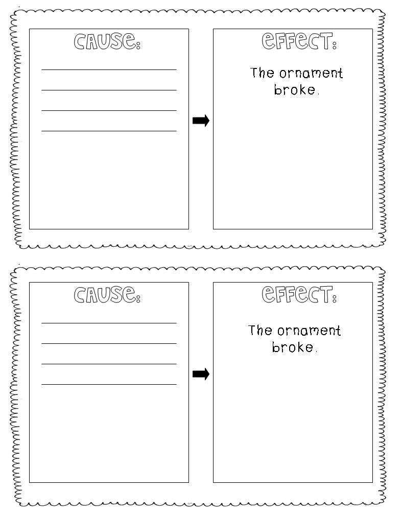 cause and effect of the christmas An effect is what happens the cause is why these printable worksheets help students identify cause and effect situations in literature and real-life scenarios found in non-fiction texts.