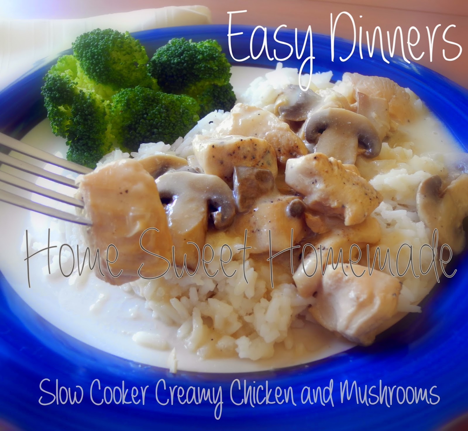 Slow Cooker Creamy Chicken and Mushrooms
