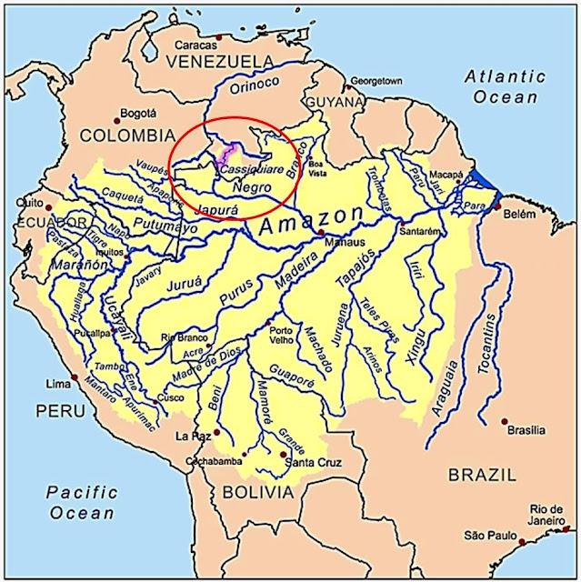 Mapa de la Cuenca del Amazonas