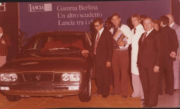 1973 - Presentazione nuova Lancia con Avv. Luigi Michitto fratello di donna Vittoria Leone