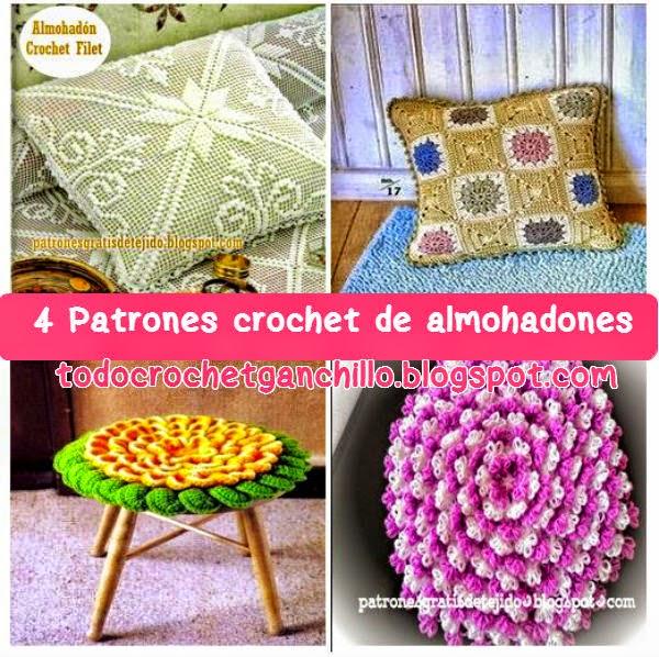4 Patrones de Almohadones Fantásticos Tejidos al Crochet | Todo crochet