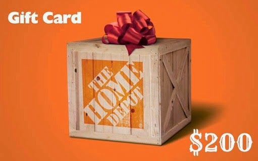 $200 Home Depot Card Giveaway