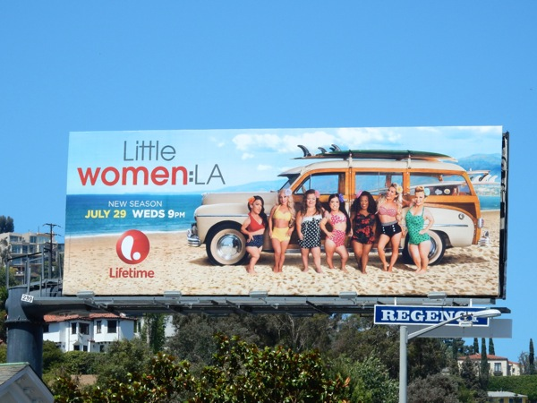 Little Women LA season 3 Lifetime billboard