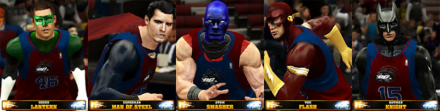 NBA 2K13 DC Superheroes Team Mod