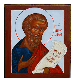 holy prophet nehemiah orthodox icon commission edelman window into heaven