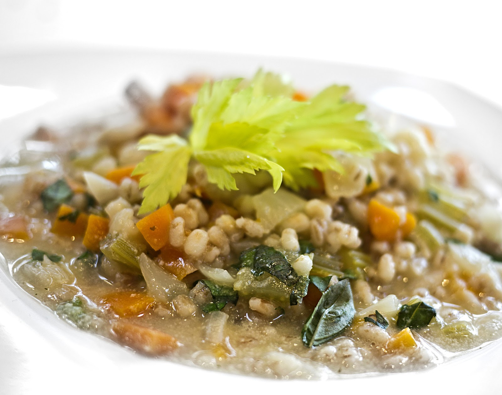 Barley'Risotto' with Carrot and Celery