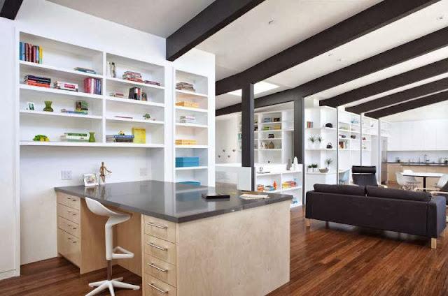 modern-decoration-library-room-Net-Zero-Energy-Modern-House