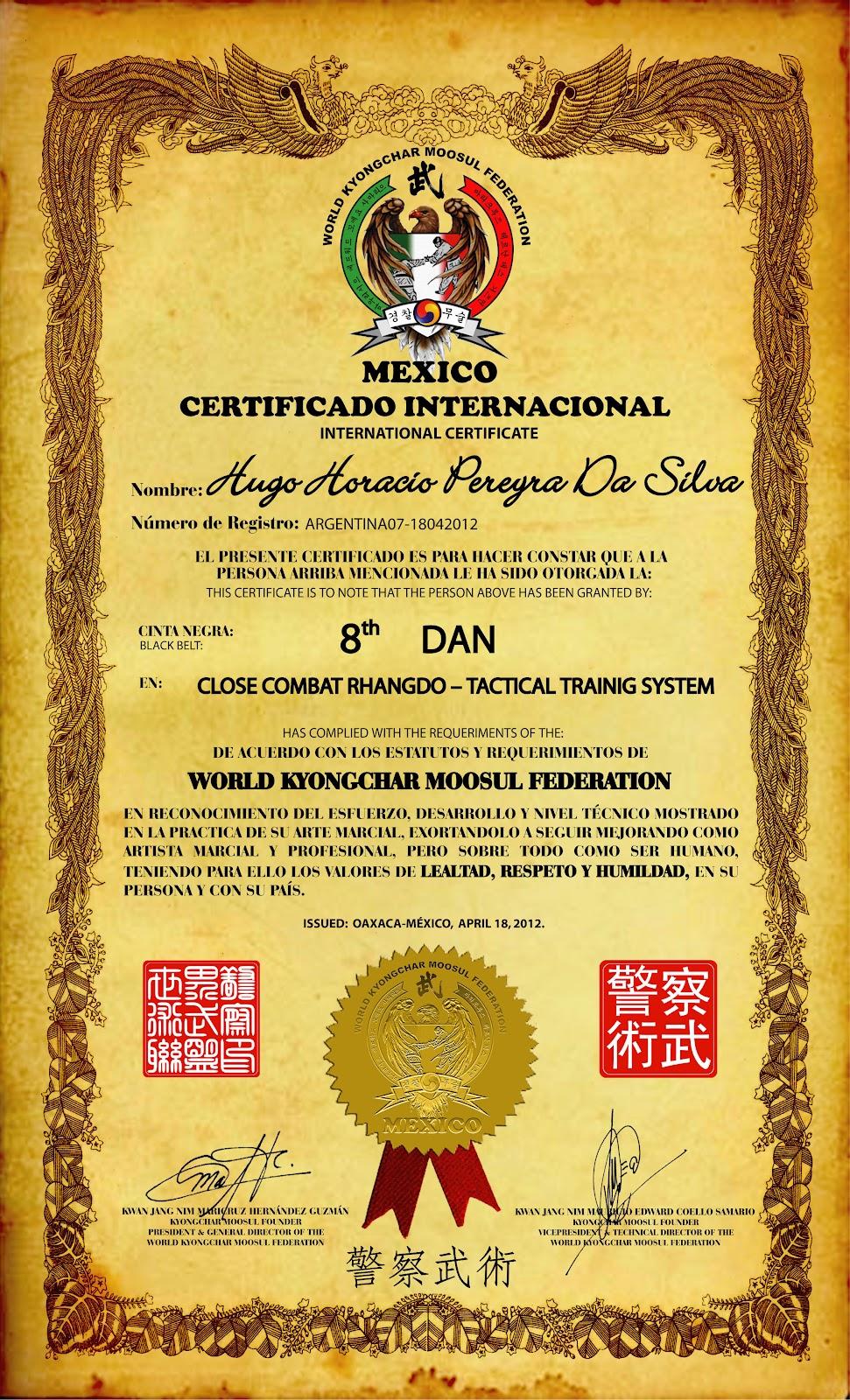 Famoso Plantillas De Certificado Artes Marciales Molde - Certificado ...