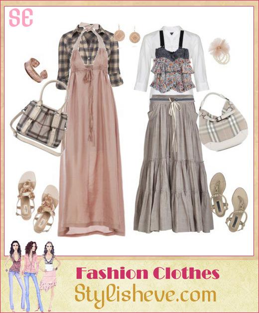 Beautiful Thread Maxi Dresses For Veiled Girls 2014 Long Maxi Dresses 2014