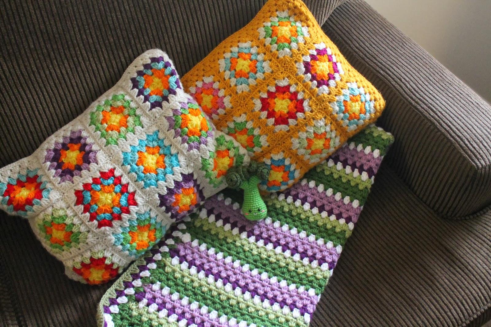 Amigurumi Food: Crochet granny stripe-Manta para cuna {Patrón Español}