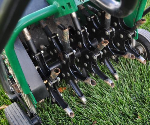grass pad core aerator - Aerate Lawn