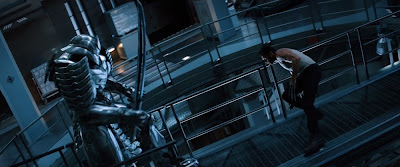 Hugh Jackman as Wolverine vs. The Silver Samurai in The Wolverine