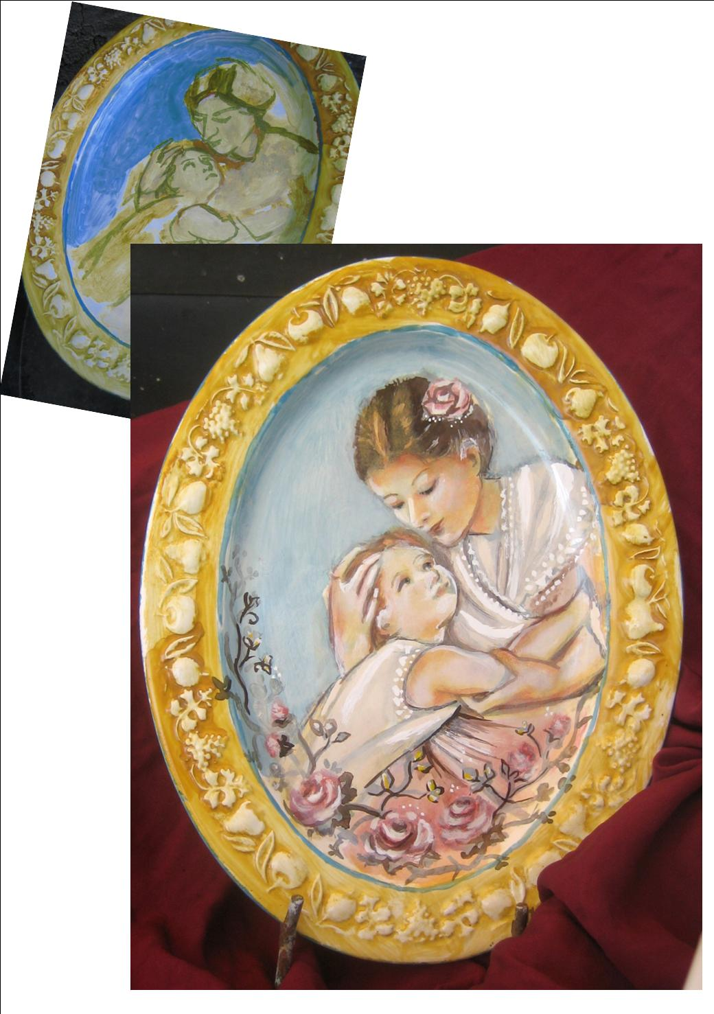 Murgiamirella decorazioni pittura castel madama piatti for Decorazioni piatti
