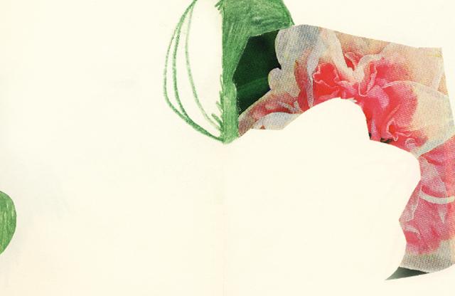 collage fleurs rosemarie auberson