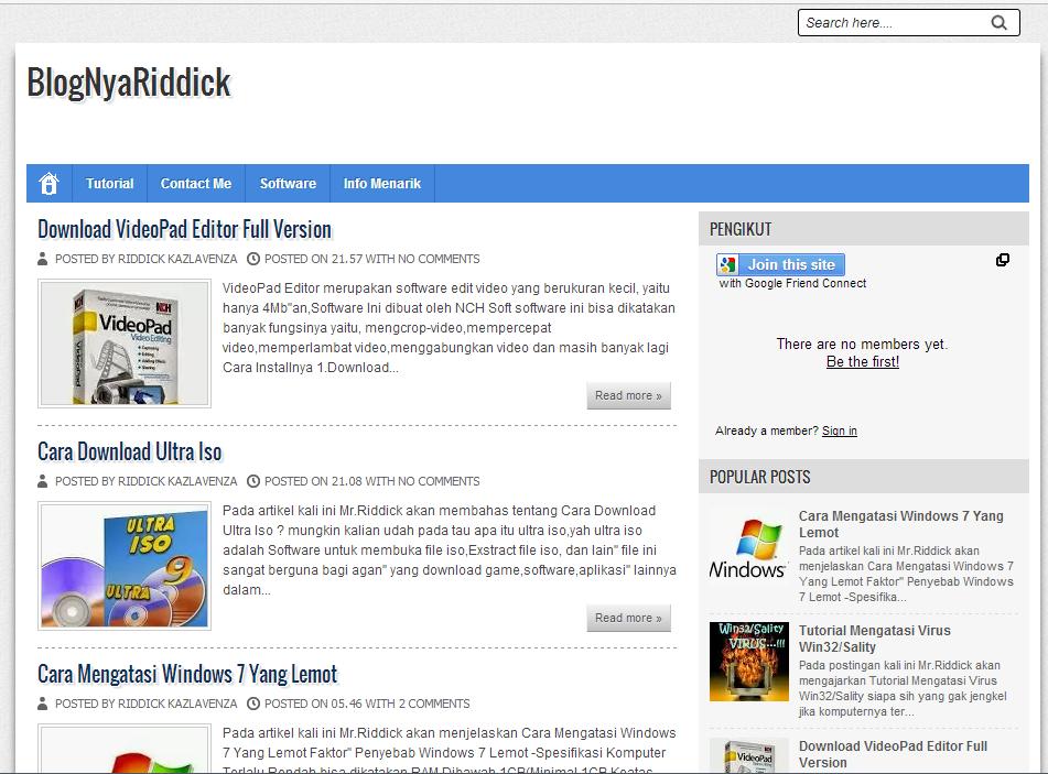 Review blog: BlogNyaRiddick