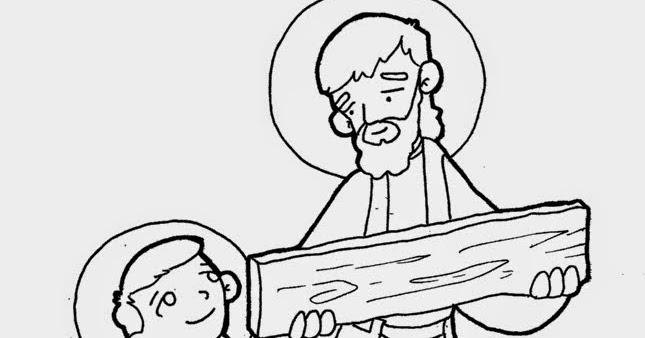 Educar con Jesús: San José, obrero, 1 de mayo (dibujosparacatequesis)