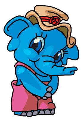 Desenho de elefante colorido