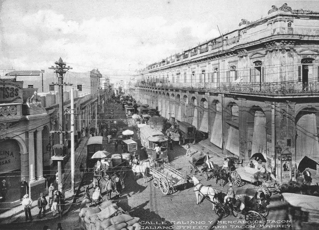 La Calle Galiano y el Mercado Tacón en 1910