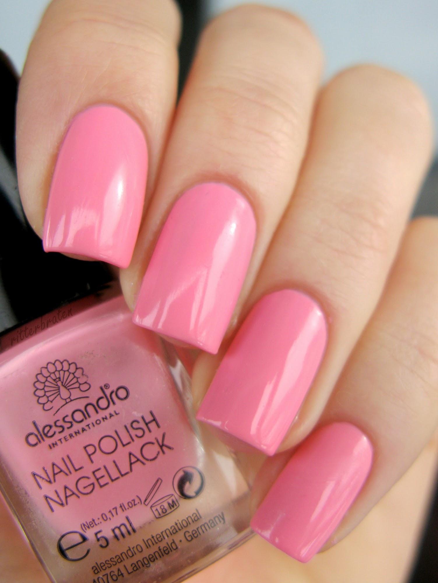 Alessandro Candy Floss Pink nail polish pink