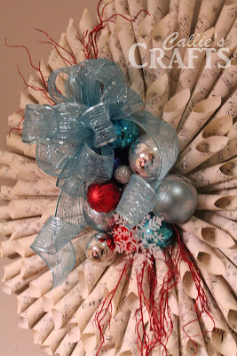 rolled paper wreath christmas