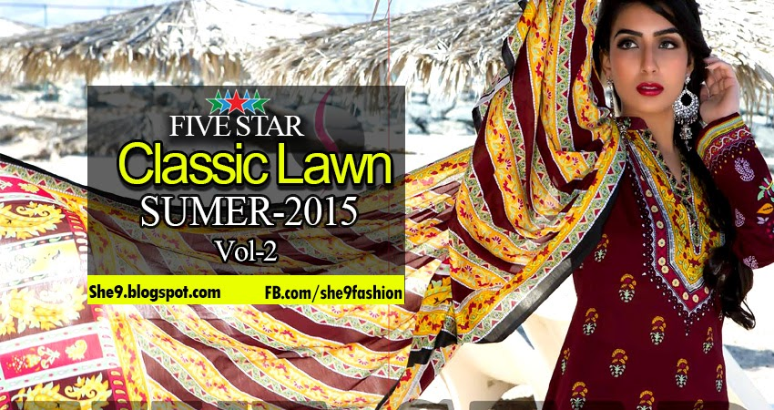 Five Star Classic Lawn 2015 Vol-2 Magazine