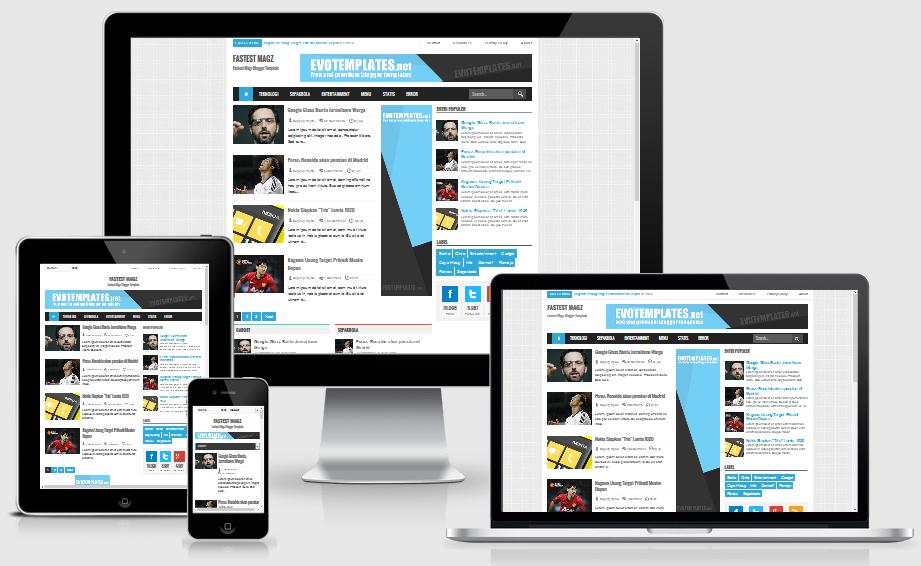Fastest Magz V3 Responsive Blogger Template