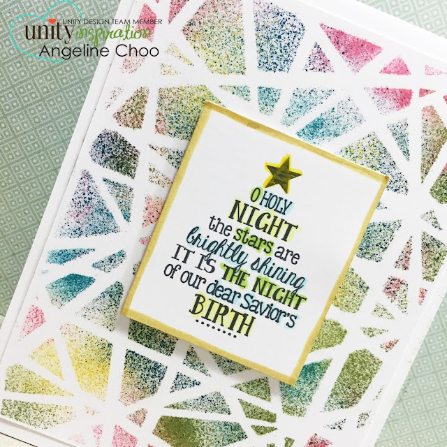 ScrappyScrappy: Faux Stained Glass Christmas card #scrappyscrappy #unitystampco #timholtz #distress #christmas #dylusions #stencil