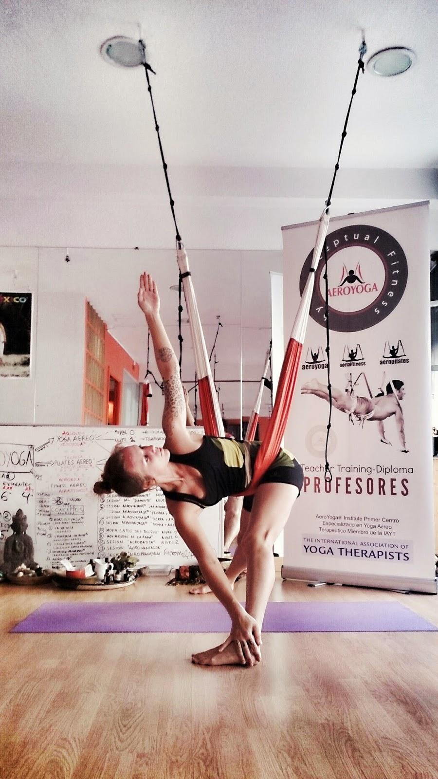 AERO YOGA Yoga Aéreo Trapecio