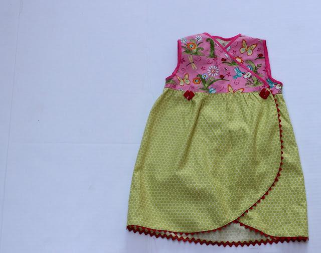 sew a kimono style wrap dress