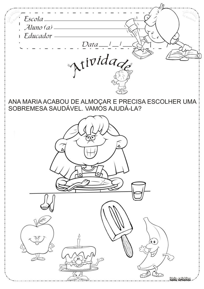 Muito Atividade Alimentação Saudável / Educação Infantil | Ideia  GS44