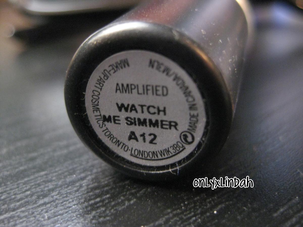 Vanity Obsessed: Swatch: MAC Watch Me Simmer Lipstick