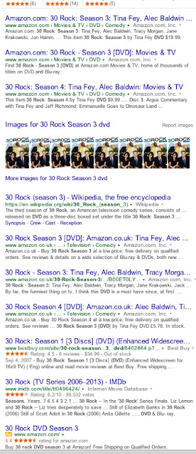 Google's 2/3rds Amazon search results, Jan.'16