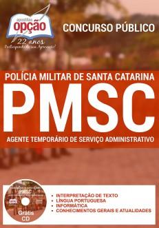 Novo Concurso Polícia Militar / SC AGENTE TEMPORÁRIO DE SERVIÇO ADMINISTRATIVO 2016