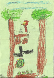 """""""Rainforest"""" drawing by my 5 year-old toddler"""