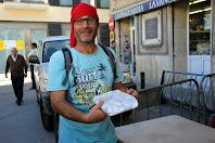 Un altre premiat amb la coca, el nostre amic Salva de Mataró